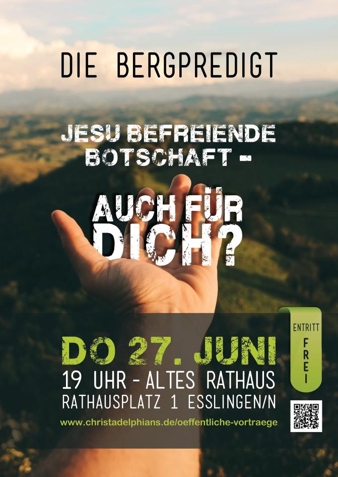 Einladung Bergpredigt